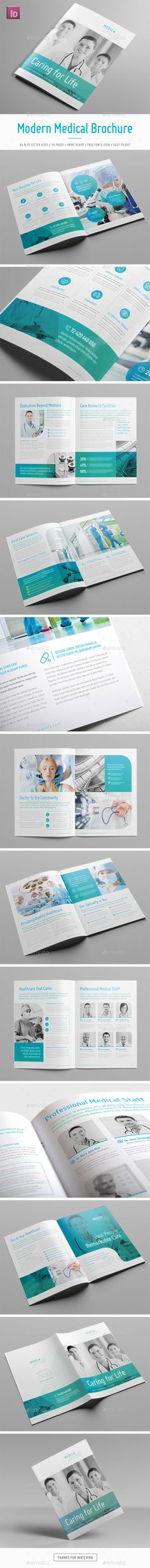 Modern Medical Square Trifold Brochure Brochure template - medical brochure template