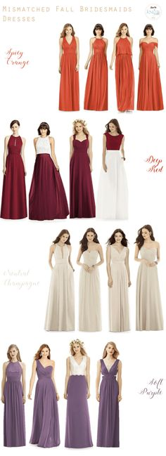 mismatched fall bridesmaids