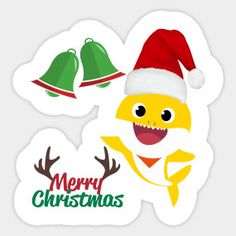 Santa Shark Merry Christmas (Baby Shark Clip Art) - Christmas and New Year Gifts - Baby Shark - T-Shirt Baby Shark Christmas, Merry Christmas Baby, Christmas Clipart, Christmas And New Year, Christmas Gifts, Baby Swing Set, New Year Gifts, Party Gifts, Clip Art