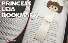 Princess Leia Bookmark, kids craft for Star Wars Reads Day