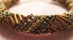 russian bead weaving patterns | Russian Spiral Bracelet Pattern