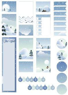 Free Printable Winter Wonderland Planner Stickers