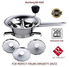Renberg Deluxe Italian Food Mill Stainless Steel RB-4302