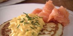 Buckwheat Blinis with Scrambled Eggs and Lox - Sophie Dahl - Delicious Miss Dahl
