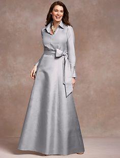 Talbots - Doupioni Ball Dress   Aisle Style   Woman