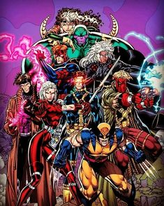 Wildcats and the Uncanny X-Men by Jim Lee and Scott Williams. Marvel Comic Character, Comic Book Characters, Comic Book Heroes, Marvel Characters, Comic Books Art, Comic Art, Image Comics Characters, Marvel Comics Art, Disney Marvel