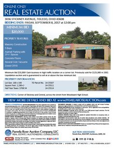 Auction! Minimum Bid $20,000 for this cash business! 5 bay self-service car wash on a corner lot in a high traffic area. Property sits on 3 parcels. Previously sold for $125,000 in 2002. View additional information and register to bid now online. Pamela Rose Auction Company, LLC.