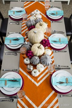 Set a pretty table-scape this Thanksgiving with this inspiring color palette.