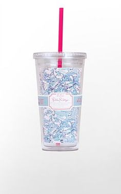 Lilly Pulitzer - Kappa Kappa Gamma and i LOVE these kind of cups