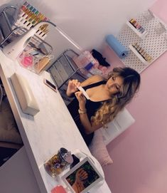 """Still can't believe this week """"Clawssy Nail Studio"""" will officially be open💅🏼 Forever grateful for all the love & support your girls have… Home Beauty Salon, Home Nail Salon, Nail Salon Design, Nail Salon Decor, Beauty Salon Decor, Salon Nails, Nail Salons, Nail Desk, Nail Room"""