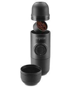 Take your Espresso maker with you with the compact MiniPresso GR Espresso Maker. I'm a huge fan of espresso but don't have the room for an Cappuccino Machine, Coffee Machine, Espresso Maker, Espresso Coffee, Coffee Coffee, Coffee Time, Coffee Beans, Morning Coffee, Percolator Coffee Maker