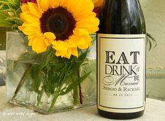 Set of Custom Wine Labels  Vintage Aged Design // by sweetsanity