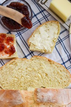 Jam, butter and Gran