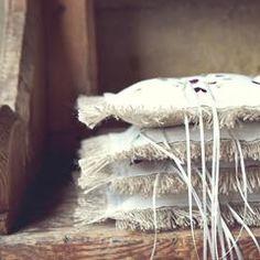 Wedding Bunting and Party Lantern bags - original venue decorations Lace Bunting, Wedding Bunting, Ring Pillow Wedding, Wedding Ring, Ring Pillows, Traditional Wedding, Lanterns, White Gold, Rustic