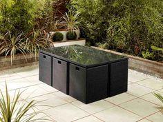 Cube 6 Natural Rattan Garden Furniture Modern Bedroom Ideas