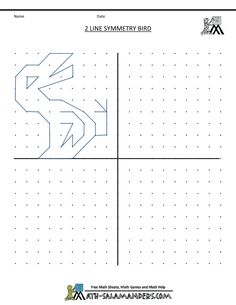 Visual Motor/Visual Perception Activities -symmetry worksheets 2 line symmetry bird. Repinned by SOS Inc. Resources. Follow all our boards at pinterest.com/sostherapy for therapy resources.