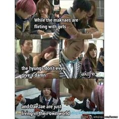 There's the maknaes, there's the hyungs, aaaand then we have DaeJae. God Bless XD | B.A.P