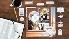 Let Grace Shine Forth With This Faith Scrapbook Layout Scrapbook Supplies, Scrapbooking Layouts, Stained Glass Church, Therapy Tools, Keep The Faith, Wedding Scrapbook, Cherished Memories, Creative Memories, Circle Pattern