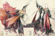 """Horst Janssen, """"Diary of Amaryllis"""" de 1984, lápis e pastéis © VG Bild-Kunst Bonn 2015"""