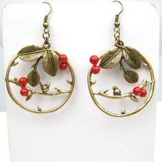 Earrings Bronze Branch Beads Bird Fashion Jewelry ST36 | eBay