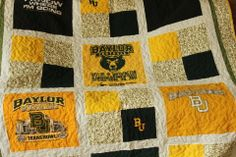 Baylor T-Shirt Quilt - for my son, daughter, and granddaughters to present as a graduation gift.