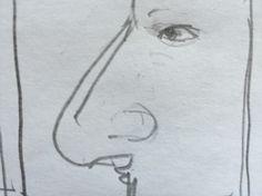 Большой нос. Разрушение пропорций.