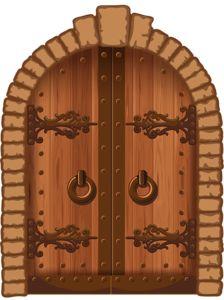 Blender Door Medieval Castles Medieval Arched Door 3d