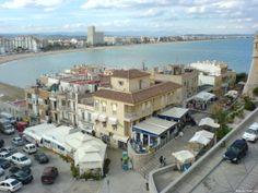 Blick über den Hauptplatz von Peñíscola - Spanien - Spain - España