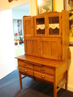 Beautiful Vintage Hoosier Cabinet Oak