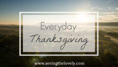 Everyday Thanksgiving