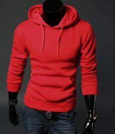 Pánská moderní mikina s kapucí červená – pánské mikiny + POŠTOVNÉ ZDARMA Na  tento produkt se 5b12fc5297