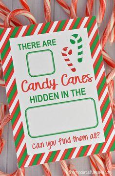 Candy Cane Hide & Seek Game