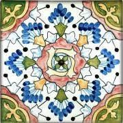 Spanish Tile - Andalucia hand-painted ceramic tile using traditional glaze techniques and colors. Available in different sizes and formats for easy application. Spanish Pattern, Spanish Tile, Spanish House, Painting Ceramic Tiles, Clay Tiles, Tuile, Vintage Tile, Mediterranean Home Decor, Hippie Home Decor