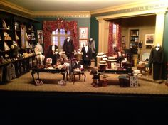 Gentleman's Shop assembled and staged by K. Hill. Items in shop made by various artisans, including myself. All suits made by Lori Ann Potts.