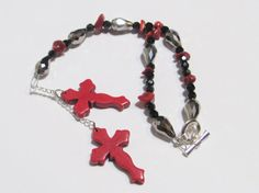 Western Car Accessory Red Cross Accessory by GreenCloverCrafts