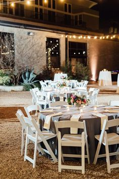 outdoor night time wedding reception ideas