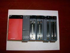 Mitsubishi MELSEC-Q  PLC Automation: QS1P, Q01CPU, QX42, QY42P. QD75M2, QD75P4 #MitsubishiMELSECQ