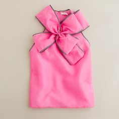 J. Crew pink bow blouse.