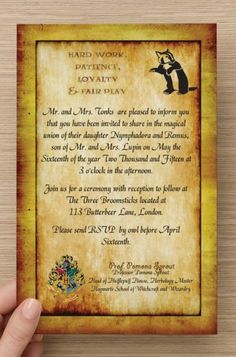 50 PRINTED Custom Harry Potter Hufflepuff Invitation & RSVP Cards! Choose Verbiage. Perfect for Any Harry Potter Fan's Wedding or Birthday!