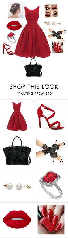 """Untitled #16"" by olivia-186 ❤ liked on Polyvore featuring Fendi, Allurez and Lime Crime"