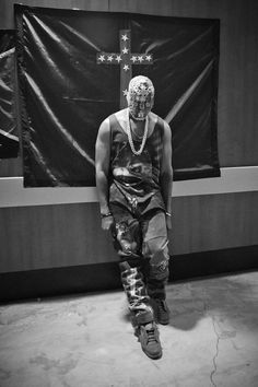 One of Kanye Wests YEEZUS outfits by Margiela