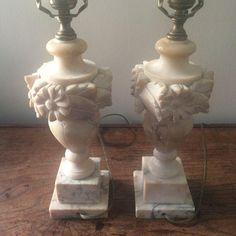 Image of Alabaster Urn Lamps