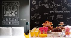 Chalkboards are very trendy right now. Here are some examples of how to use them in your #meeting or #event space.