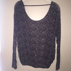 Free People Top Free People Top that's brand new with tags. Open back and elastic at the bottom. Free People Tops Tees - Long Sleeve
