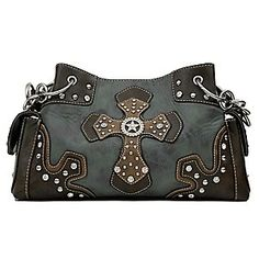 Nocona Blue and Brown Faux Leather w/ Cross