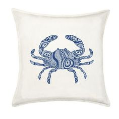 Greendale Home Fashions Crab Cotton Canvas Throw Pillow Color: