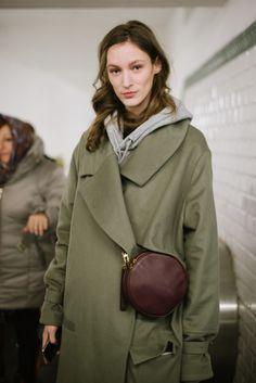 Khaki and a cross-body bag