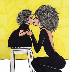 Trendy Black Art Mother And Daughter Pictures Black Love Art, Black Girl Art, My Black Is Beautiful, Beautiful Artwork, Art Girl, Black Girls, African American Art, African Art, Black Art Pictures