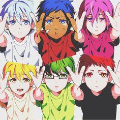 Kuroko, Aomine, Murasakibara, Kise, Midorima and Akashi - Kuroko no Basket