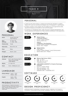 Re Design my own resume.